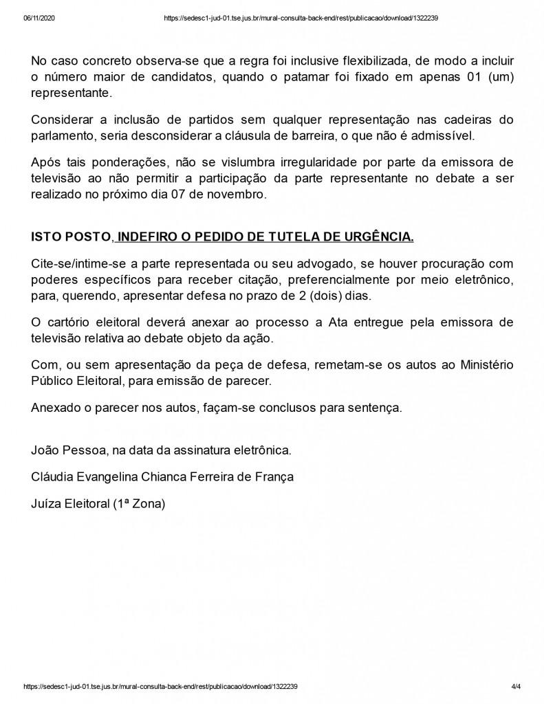 joao pessoa 4 - Juíza nega pedido de participação de candidato em debate promovido por emissora de televisão em João Pessoa