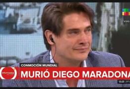 Jornalista chora e perde a voz ao noticiar morte de Maradona
