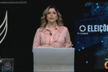 karine - ACOMPANHE AO VIVO: TV Tambaú realiza debate entre candidatos a prefeito de João Pessoa