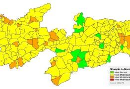 PLANO NOVO NORMAL: Avaliação aponta aumento na taxa de transmissão da Covid-19 na Paraíba e coloca 96% dos municípios em bandeira amarela ou laranja