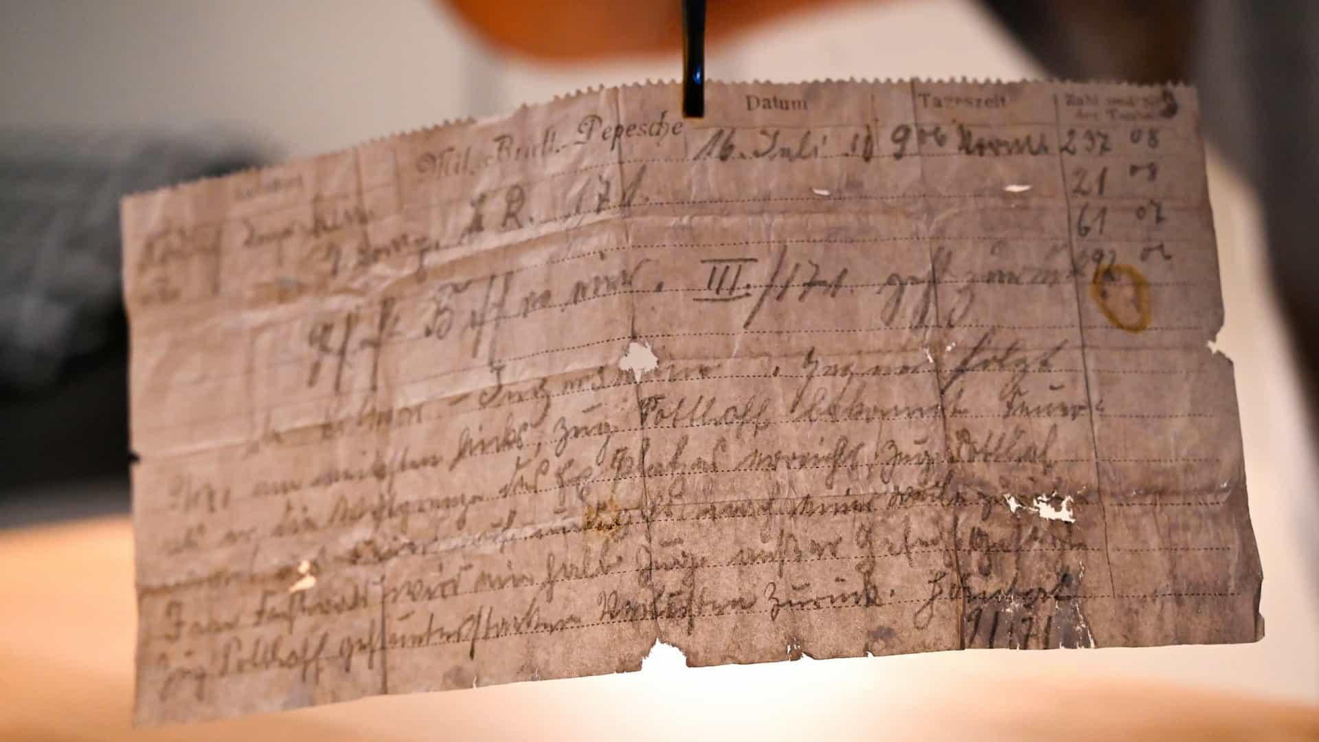 mensagi - Mensagem de pombo-correio com mais de 100 anos descoberta