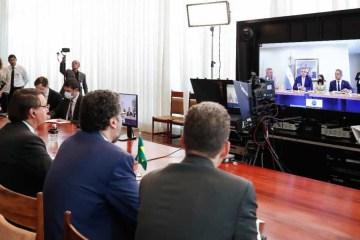 Por vídeo, Bolsonaro e Fernández, da Argentina, têm primeira reunião bilateral