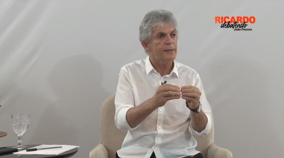 ricardo debate - DEBATE CORREIO: Ricardo Coutinho não comparece; socialista realiza live no mesmo horário