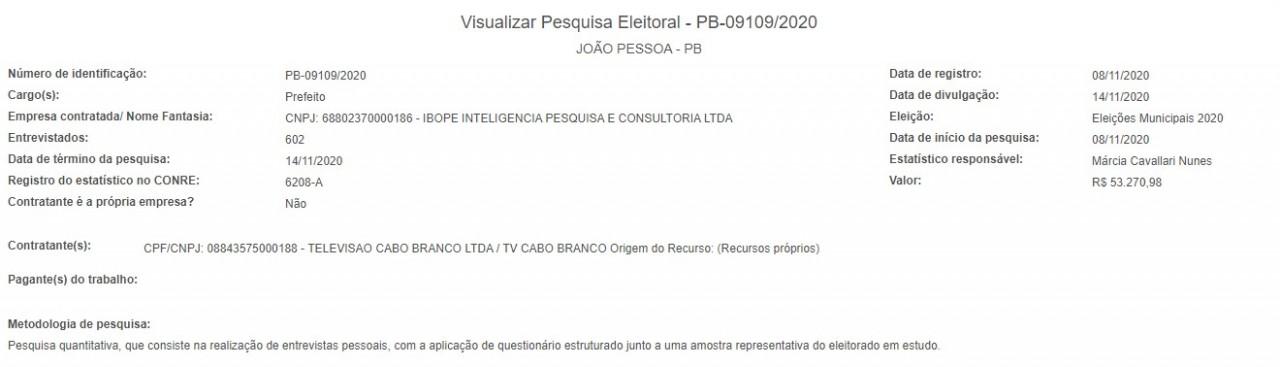 screenshot 4 - INTENÇÃO DE VOTOS: Ibope tem nova pesquisa eleitoral, em João Pessoa