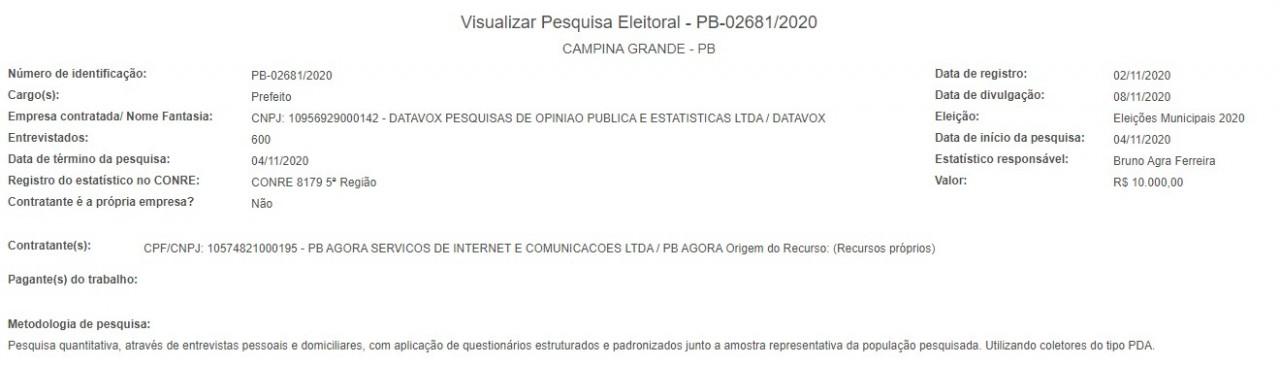 screenshot 9 1 - Datavox registra pesquisa eleitoral para Prefeitura de Campina Grande