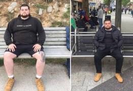Homem descobre nova 'carreira': avaliador de bancos de praça