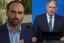 Eduardo Bolsonaro acusa Globo de proteger Marcius Melhem e desabafa