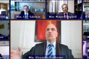 ALEXANDRE - INTERVENÇÃO CANINA: Alexandre de Moraes é interrompido por cão e ministros caem na risada em sessão do STF; VEJA VÍDEO