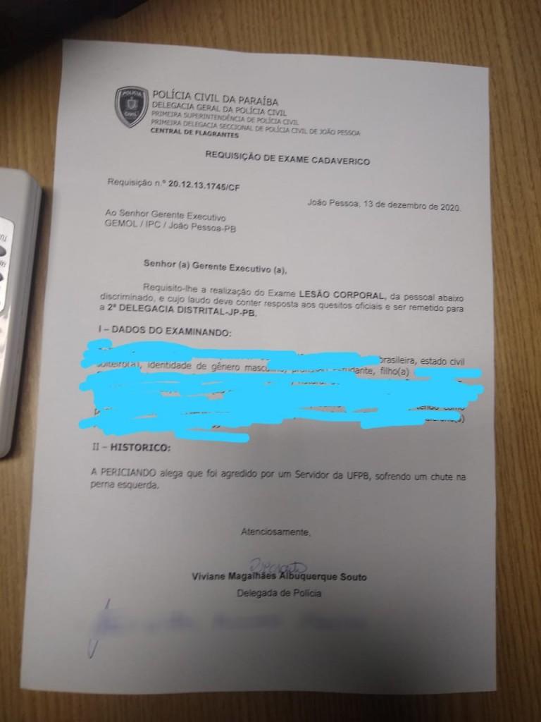 """UF - Estudantes são agredidos por seguranças da UFPB: """"Racismo e perseguição política"""", denuncia professor"""