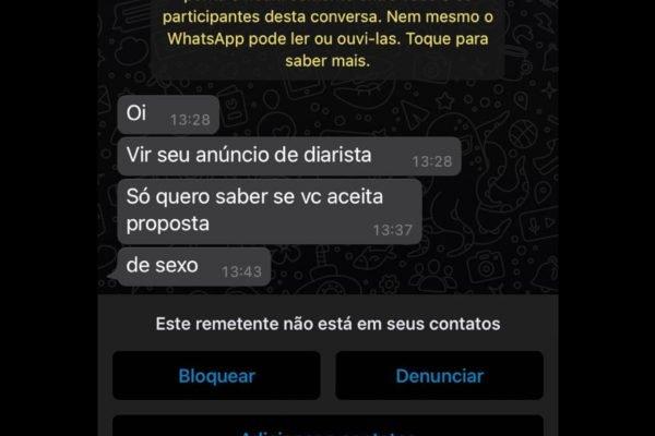 assedio - PROPOSTA INDECENTE: Mulher é assediada ao pedir emprego em grupo no Facebook