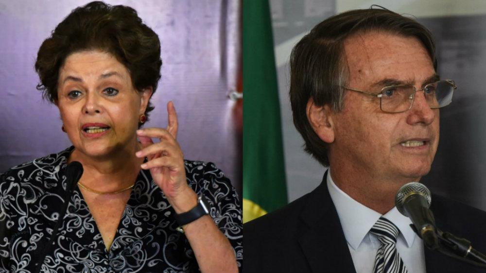 dilma e bolsonaro - Dilma rebate Bolsonaro: 'Um sociopata, que não se sensibiliza diante da dor de outros seres humanos'