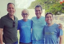 """ALMOÇO DE DOMINGO: Cícero recebe Aguinaldo Ribeiro, Ricardo Barbosa e Felipe Leitão mas """"cardápio político"""" não é revelado"""