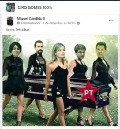 """gabinete odio 4 - """"GABINETE DO ÓDIO"""": organização age em nome de Ciro e do PDT"""