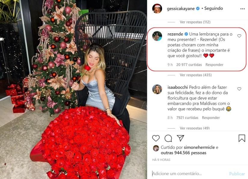 gkay 1 - Paraibana Gkay ganha buquê com 500 rosas do namorado avaliado em mais de R$ 3 mil