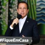 """joao doria fique em casa - Doria sobre a mãe de Bolsonaro: """"Está salva pela vacina do Butantan"""""""