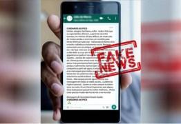 """""""CHEGAMOS AO PICO"""": Mensagem de WhatsApp atribuída a """"Secretário Estado Saúde"""" é falsa"""
