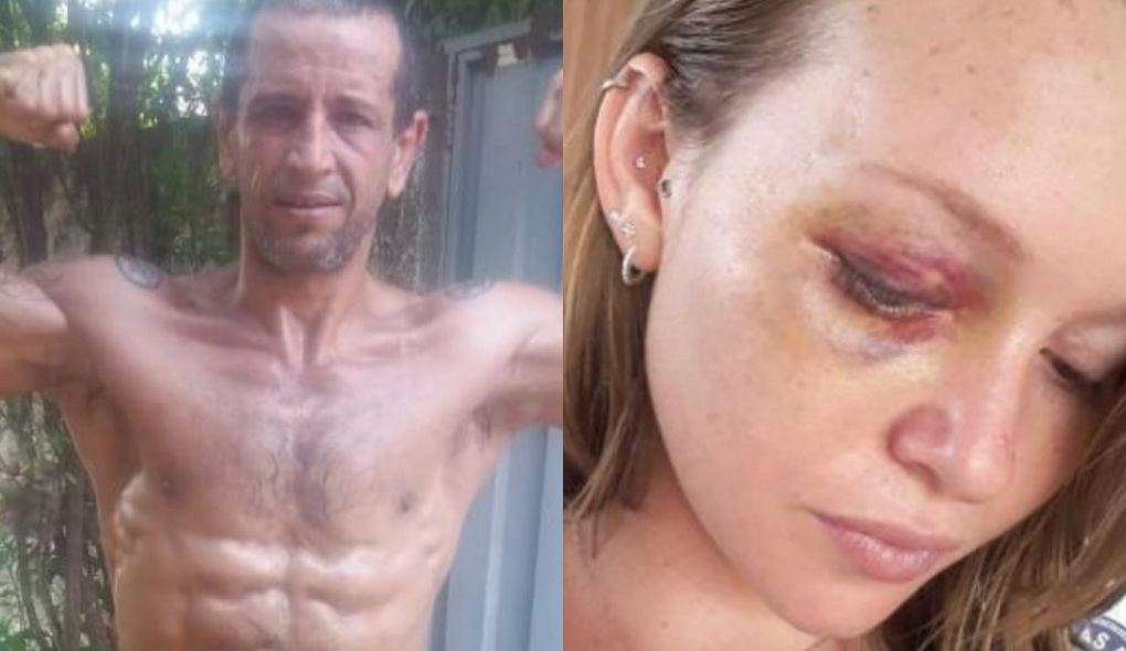 1611625804491979 - IMAGENS FORTES: Lutador dá soco na ex-mulher em frente a distribuidora de bebidas - VEJA VÍDEO