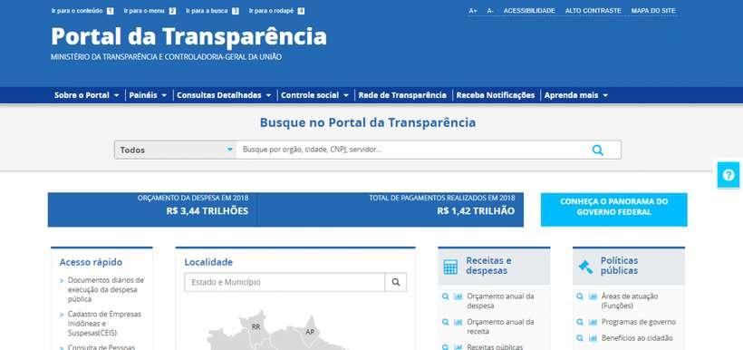 20210127160921293759u - 'APAGÃO'?! Em meio a polêmica com compras do governo, Portal da Transparência fica fora do ar