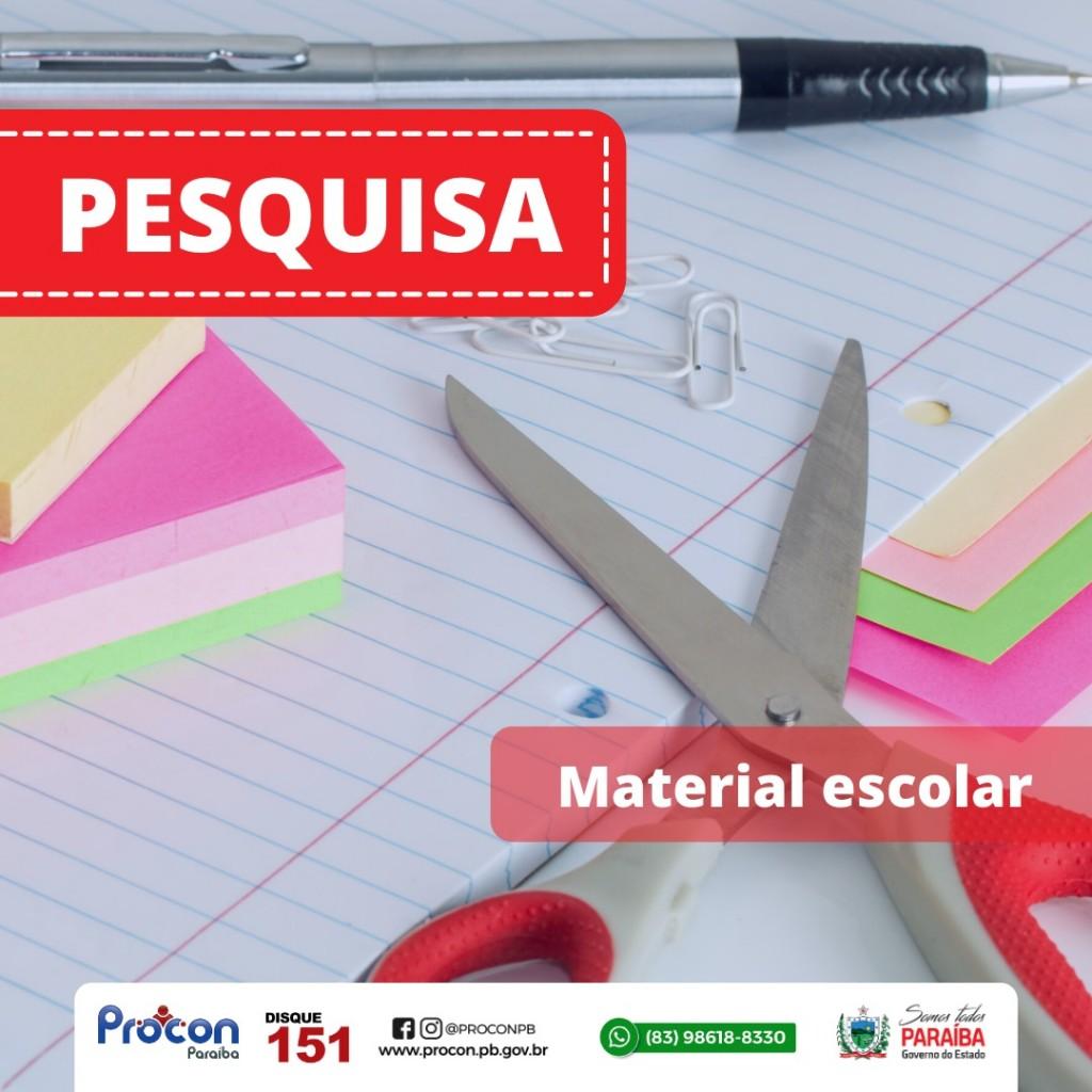 45335af7 e35d 42f0 8db7 0ebe5d992557 - Variação entre os preços de material escolar chega até 400,00%, aponta pesquisa do Procon-PB