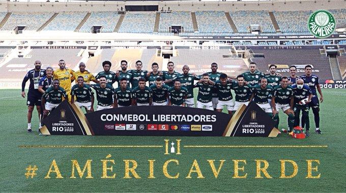 EtAwqZqXYAIaIwg - PALMEIRAS É O CAMPEÃO! Time venceu o Santos e se tornou bicampeão da Libertadores