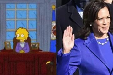 KAMALA E OS SIMPSONS - A VIDA IMITA A ARTE: Os Simpsons parecem ter previsto parte da posse de Kamala Harris e Biden