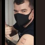 """Vacina Butantan Noriel Henrique 600x400 1 - À espera da imunização, universitário tatua no braço: """"Butantan, vacine aqui"""""""