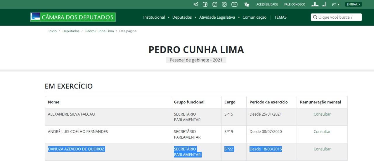 WhatsApp Image 2021 01 27 at 10.07.50 - INCOERÊNCIA: Pedro Cunha Lima critica gastos públicos, mas emprega secretária com salário pago pela Prefeitura de Campina Grande há 5 anos - ENTENDA