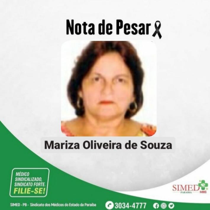 WhatsApp Image 2021 01 31 at 14.41.50 - MAIS UMA VÍTIMA! Médica paraibana, Mariza Oliveira de Souza, morre em decorrência da covid-19