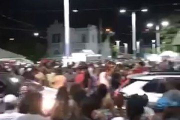 SEM FISCALIZAÇÃO: vídeos mostram festas e aglomerações de pessoas sem máscaras na noite deste sábado (16), em cidades da Paraíba