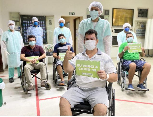 alta hospitalar - BOA NOTÍCIA! Mais 5 pacientes de Manaus recebem alta em JP