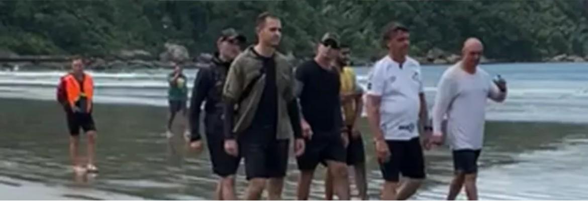 bolsonaro praia - Após folga de fim de ano, Bolsonaro deixa Litoral Sul de SP