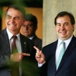 brasil bolsonaro maia 20181114 001 - Bolsonaro quer 'transformar o parlamento em um anexo do Palácio do Planalto', diz Maia