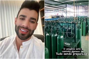 capa gusttavo lima 600x400 2 - Gusttavo Lima mostra avião com 150 cilindros de oxigênio para Manaus