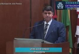 Por unanimidade, CMJP elege vereador Dinho como presidente da Mesa Diretora