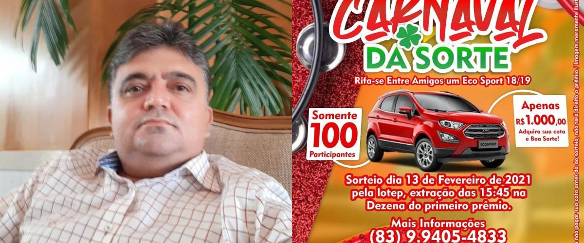 final 1610628551 - NA PARAÍBA: candidato nas eleições 2020 faz rifa para ajudar nos custos da campanha; confira