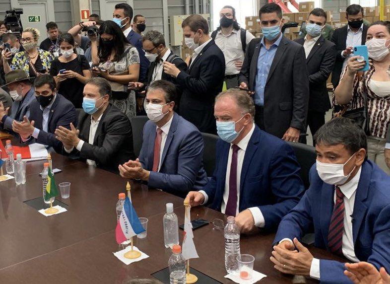 governadores reunidos - Em carta, João Azevêdo e mais 14 governadores pedem, ao Governo Federal, ação da diplomacia para compra de vacinas; Veja os nomes