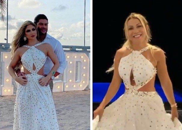 hulk camila iran2 e1609797807750 - Camila Ângelo aparece com roupas iguais a da ex-esposa de Hulk, e Iran diz que fará sorteio das peças