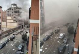 Grande explosão destrói prédio no Centro de Madrid, na Espanha – VEJA VÍDEO