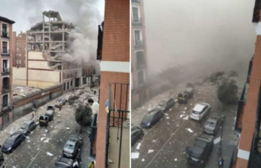 img 61900 foto 3 a - Grande explosão destrói prédio no Centro de Madrid, na Espanha - VEJA VÍDEO