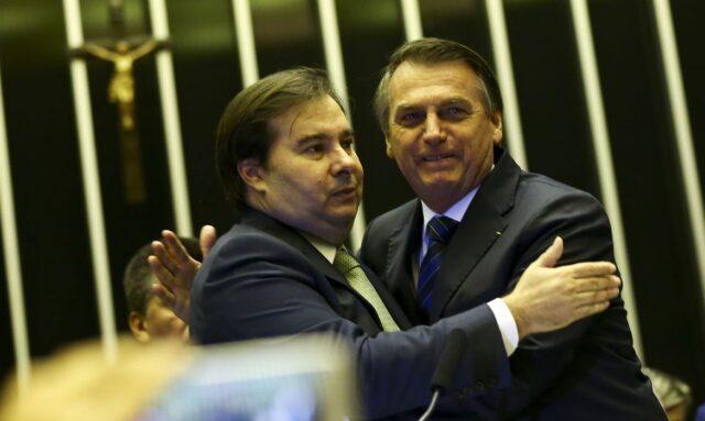 maia bolsonaro 640x383 1 - Maia diz a aliados que futuro político de Bolsonaro estará nas mãos de sucessor