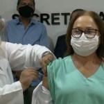 marineide gouveia vacinada 1 - IMUNIZAÇÃO COMEÇOU: Governo da Paraíba vacina primeiras pessoas no estado - SIGA AO VIVO