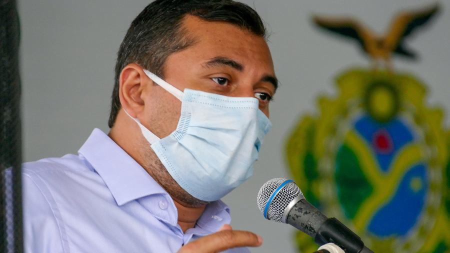 o governador do amazonas wilson lima psc durante evento na arena da amazonia em manaus 1610668540021 v2 900x506 - Governo do Amazonas cria auxílio emergencial para famílias em extrema pobreza