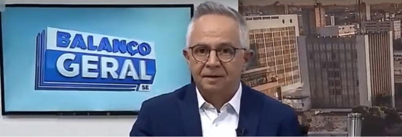 sergio cursino - PIADA VELHA: Apresentador da Record cai em trote e manda abraço para Tomás Turbando - VEJA VÍDEO