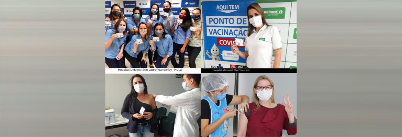 vacina hospitais - CUMPRINDO PLANO DE VACINAÇÃO: Além do HNSN, outros três hospitais também imunizaram equipes de apoio - SAIBA QUAIS FORAM