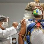 vacina indio 1 - Primeiro dia de campanha vacina 626 indígenas Potiguara contra a Covid-19 na Paraíba