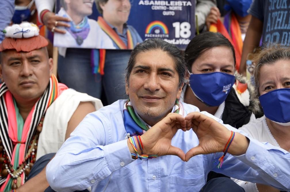 000 92767g - Equador tem candidato à presidência indígena pela 1ª vez em 15 anos