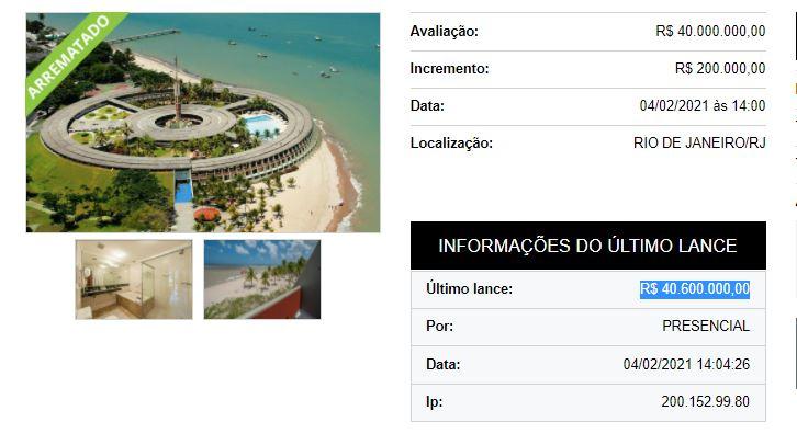Capturar 12 - FIM DA NOVELA! Hotel Tambaú é arrematado por pouco mais de 40 milhões; confira