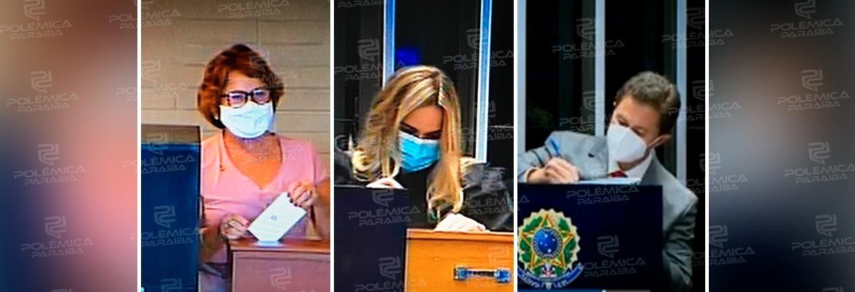 WhatsApp Image 2021 02 02 at 17.33.33 - MESA DIRETORA: com Veneziano candidato, Nilda Gondim e Daniella Ribeiro votam para eleger vice-presidente do Senado