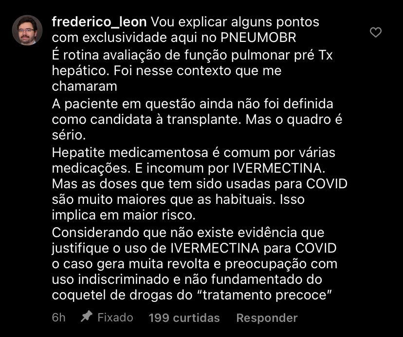 WhatsApp Image 2021 02 07 at 18.16.27 - RISCO À SAÚDE: Médico denuncia caso de hepatite medicamentosa causada pelo uso de ivermectina contra a covid-19