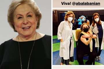 atriz vacina - Aos 81 anos, Atriz Aracy Balabanian é vacinada contra a covid-19